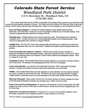 Colorado State Forest Service Information